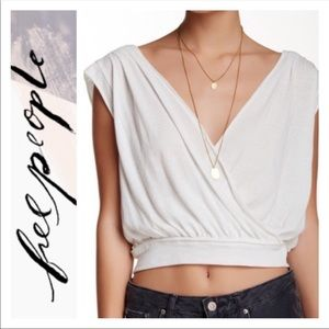 For sshine2 Free People Wrap Crop Top